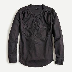 J. Crew Black Popover Shirt w/ Pockets, Size S